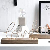 vineying 3Dナイトライト ベットナイトライト ベッドルーム装飾 ライト 電池式 北欧INS Home LEDナイトライト 誕生日プレゼント 屋内 結婚式 ロマンス LEDファミリーサインライト
