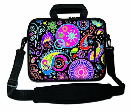 LUXBURG® 12 Zoll Schultertasche Notebooktasche Laptoptasche Tasche mit Tragegurt aus Neopren für Laptop/Notebook Computer