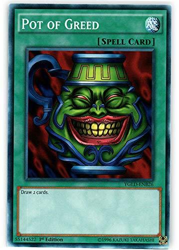 Yu-Gi-Oh! - Pot of Greed - YGLD-ENB26 - Common - Unlimited Edition - Yugi's Legendary Decks
