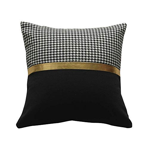 HIGHKAS Throw Pillow Covers, Soft Gold Stitching Decorative Cushion Covers Home Throw Pillow Case Square/Rectangle Pillowcase for Sofa Chair Couch Bedroom