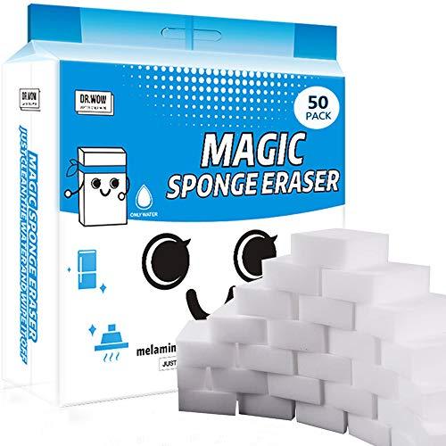 50 Pcs/lot Magic Sponge Eraser Multi-Functional Melamine Foam Cleaner 100x70x30mm