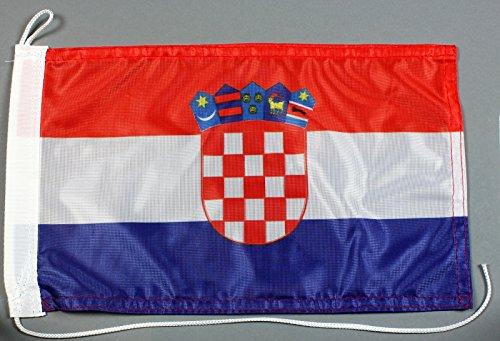 Buddel-Bini Bootsflagge Kroatien 20 x 30 cm in Profiqualität Flagge Motorradflagge