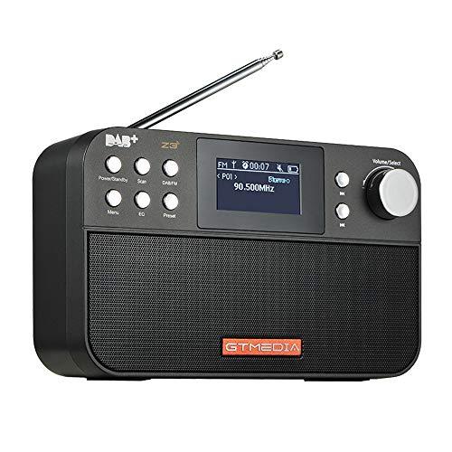 Docooler GTmedia Z3 Draagbare DAB-radio digitale FM-radio USB-batterij met twee luidsprekers en TFT-LCD-scherm