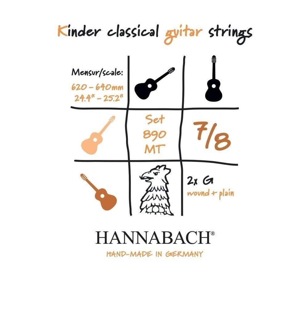 Hannabach Cuerdas para guitarra clásica, Serie 890 Guitarra para ...