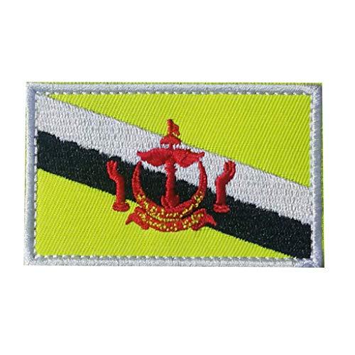 ShowPlus Brunei Flaggen-Aufnäher, Militär-Stil, bestickt, taktischer Aufnäher (Brunei)