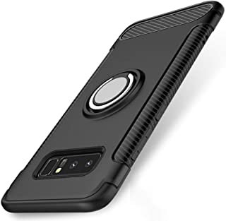 Galaxy Note 8 Case, Ikwcase 360 Degree Rotating Ring Holder Case Compatible with Magnetic Car Mount, Dual Layer Shockproof...