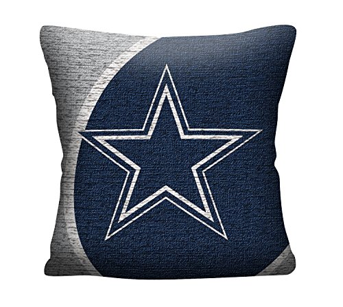 "NFL Dallas Cowboys Portal Jacquard Woven Pillow, 20"", Navy Blue"