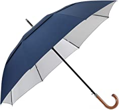 G4Free 52/54/62inch Wooden J Handle Golf Umbrella Windproof UV Protection & Classic Stick Wedding Umbrella, Auto Open Cane Hook Handle