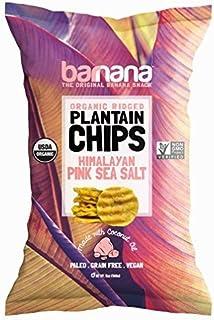 Barnana Organic Plantain Chips - Himalayan Pink Salt - 5 Ounce - Barnana Salty, Crunchy, Thick Sliced Snack - Best Chip Fo...