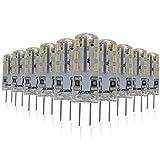 Mininono Bombillas LED G4, 1.5W 150LM Blanco Neutro 4000K, equivalente a la lámpara halógena de 10W, AC 220-240V, no regulable, paquete de 10