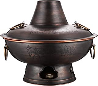 Hot Pot Domestic Large-capacity Copper Hot Pot Chinese Old-fashioned Charcoal Hot Pot Family Party Shabu-shabu Hot Pot (Co...