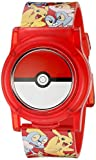 Pokemon Kids Digital Watch with Flashing LED Lights and Flip Open Top Model: