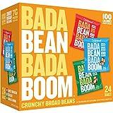 Enlightened Bada Bean Bada Boom - Plant-Based Protein, Gluten Free, Vegan, Crunchy Roasted Broad (Fava) Bean Snacks, 100 Calories per Serving, Savory Box, 1 oz, 24 Pack