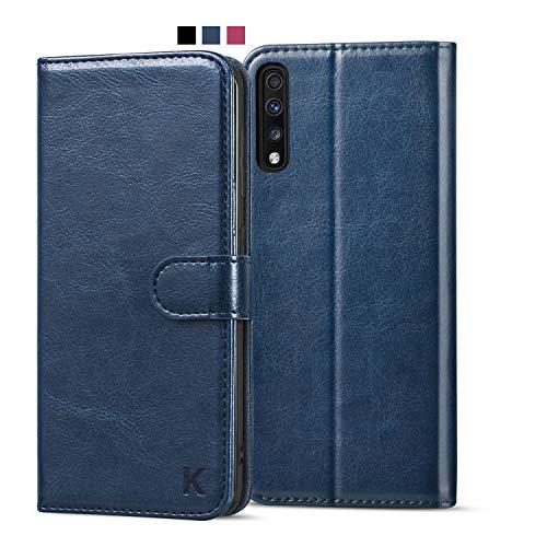 KILINO Samsung Galaxy A50/A50s/A30 Hülle [PU Leder][RFID Blocker][Schützt vor Stößen][Kartenfach][Standfunktion] Handyhülle Klapphüllen Handytasche Schutzhülle Lederhülle Flip Cover Hülle (Blau)