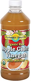 Dynamic Health Organic Raw Apple Cider Vinegar with Mother   16 Fl oz