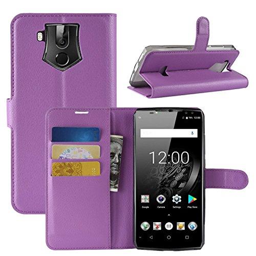 HualuBro OUKITEL K10 Hülle, Premium PU Leder Leather Wallet HandyHülle Tasche Schutzhülle Flip Hülle Cover mit Karten Slot für Oukitel K10 Smartphone (Violett)