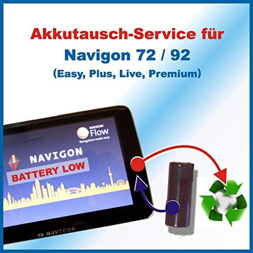 Premium-Akkutausch für Navi / Navigationsgerät Navigon 72/ 92 Easy, Plus, Live, Premium mit vorab zugesendetem Versandmaterial *Akkutauschen.de ist ausgezeichnet mit dem Qualitätssiegel Werkstatt N des Rates für Nachhaltige Entwicklung*