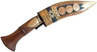 Srawen British Gurkha Kukri,Hand Forged Khukuri Blade, Full Tang Decorative Nepal Knife Bowie 10