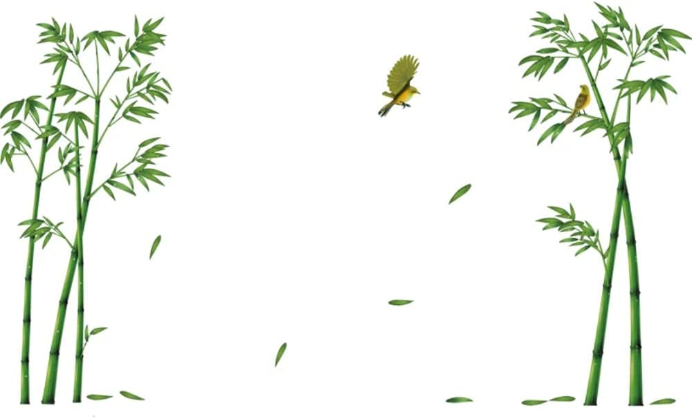 AAHPH Green Bamboo Forest Max 51% OFF Wall Stickers Decals Mural Liv Lowest price challenge DIY for