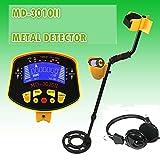 TANGIST Detector de metales Detector de metales subterráneos profesionales MD3010II Treasure Hunter Gold Digger MD- 3010II Pantalla LCD de alta sensibilidad Herramienta de búsqueda Buscador de búsque