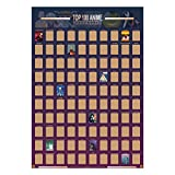 Guildable Top 100 Anime Scratch Off Poster - Anime Bucket List | Premium and Artistic Icons | Great Gift For Anime Enthusiasts (16.5