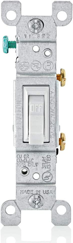 Leviton 1451-2WM 15 Limited Special Price Amp 120 Framed Toggle Ac Max 72% OFF Single-Pole Volt