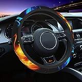 XLPDZ Abstract Fiery Dragons Universal 15 Inch Steering Wheel Covers Elastic Neoprene Wrap for Men Women