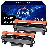 Uniwork Compatible Cartouche de Toner pour Brother TN2420 TN-2420 TN2410 pour Brother MFC-L2710DW HL-L2350DW DCP-L2530DW HL-L2370DN HL-L2375DW HL-L2310D DCP-L2510D MFC-L2750DW MFC-L2710DN (2 Noir)