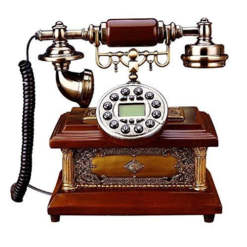 ZARTPMO Teléfono Antiguo de época, magnífico teléfono de Resina Retro Europeo, teléfono Fijo Retro para Hotel de Oficina en casa
