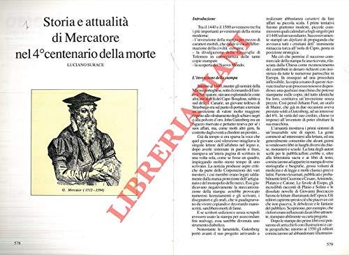 Storia e attualita' di Mercatore nel 4° centenario della morte.
