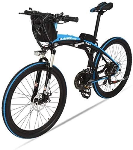 Woodtree Adulto Bicicleta de montaña Bicicleta Plegable de 26 Pulgadas Bicicleta Plegable moviendo Hombre de la montaña Coche, (Color : A)