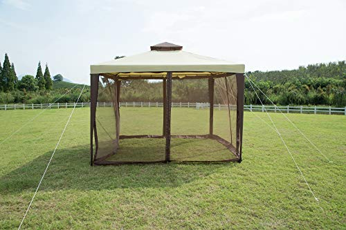 GOJOOASIS Outdoor Canopy Gazebo for Patio with Mosquito Netting 10x10