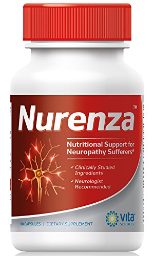 Neuropathy Supplement Nerve Pain Relief - Natural R-ALA Form 10x The Strength Than The Synthetic Alpha Lipoic Acid | Nerve Pain Relief in Feet, Hands, Legs, Toes Nerve Renew Repair Vitamins | Nurenza