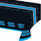 Creative Converting Officially Licensed NFL Plastic Table Cover, 54x102, Carolina Panthers