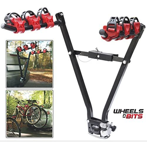 3 bicycle fork mount hitch for round expandable cargo bar quick release