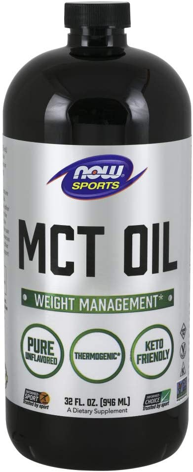 NOW Sports Nutrition, MCT (Medium-chain triglycerides)Oil 14 g, Weight Management, Liquid, 32-Ounce