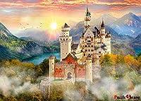 XiuTaiLtd ノイシュヴァンシュタイン城キラリと光る夕日1000ピースジグソーパズル、友達へのホリデーギフト