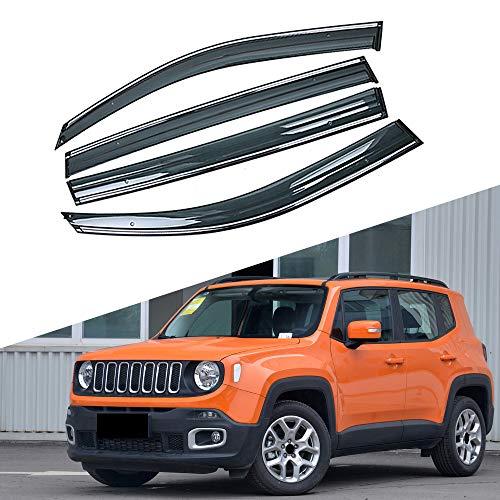 BAISHENG Autofenster Sonne Regen Schatten Visiere Schild Shelter Protector Cover, für Jeep Renegade 2014-2019