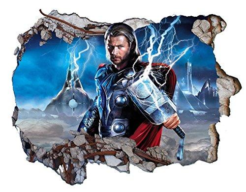 Chicbanners Thor V0403 Wandaufkleber/Wandsticker, selbstklebend, 1000 mm breit x 600 mm tief, groß