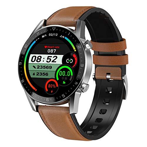 JXFF Smartwatch DT92 - Reloj inteligente para hombre y mujer, monitor de ritmo cardíaco, presión arterial, Bluetooth, pulsera inteligente compatible con Android e iOS, A
