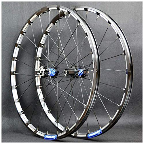 TYXTYX Rueda de bicicleta de montaña 26/27.5 pulgadas CNC doble pared aleación llanta MTB Bicicletas Cassette Hub QR disco freno 24 agujero 7-11 velocidad