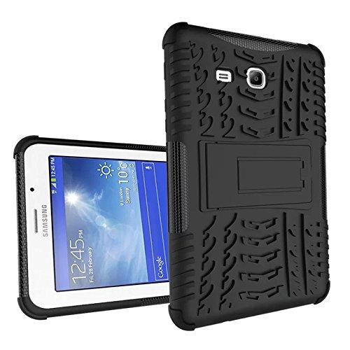 XITODA Galaxy Tab 3 Lite 7'' Funda,Samsung Tab3 Lite 7.0 Protección, Hybrid PC + TPU Silicone Funda con Stand para Samsung Galaxy Tab 3 Lite 7.0 SM-T110/T111/T113/T116 Cover Case Carcasa - Negro