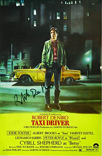 The Gift Room Póster de la película Taxi Driver Firmado por Robert De Niro con autógrafo, impresión de Calidad, tamaño A2, 420 x 594 mm, Muy Raro