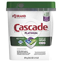 No pre-wash needed. Cascade Platinum dishwasher detergent cleans 24-hour stuck-on food so well you can skip the pre-wash. This can save up to 15 gallons of water per dishwasher load! ActionPacs are formulated with the grease-fighting power of Dawn di...