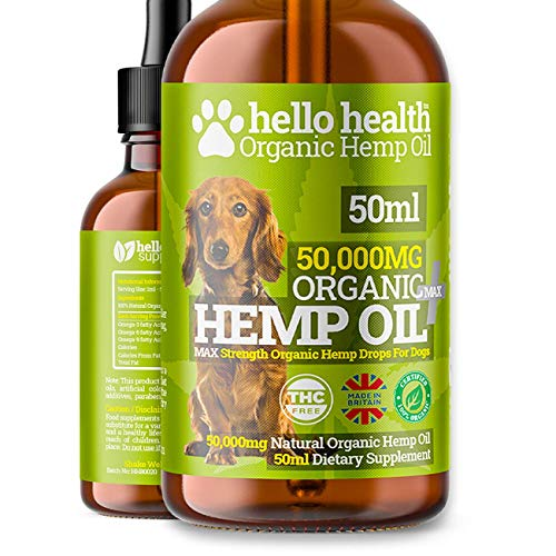 DOG CALMING HEMP OIL | High Strength Natural Organic Hemp Oil Drops For Dogs & Cats | Pet Supplement | Omega 3,6,9 | Made In UK