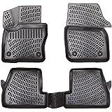 Elmasline Design - Juego de alfombrillas de goma 3D para Ford Focus III MK3 (modelos de 2010 a 2018, borde extra alto de 5 cm)