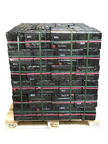 UNION 1000kg 1800 Stück Kaminbriketts Braunkohlebriketts Klütten für Ofen Kamin Feuerstellen