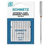 Schmetz Agujas para máquinas de coser universales (130/705 H) Pack de 10 80/12