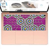 igsticker MacBook Air 13inch 2018 専用 キーボード用スキンシール キートップ ステッカー A1932 Apple マックブック エア ノートパソコン アクセサリー 保護 004412 その他 模様 紫