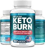 Keto Diet Pills with Pure BHB Exogenous Ketones - Effective Keto Burn Made in USA - Advanced Keto Supplement for Ketosis Support